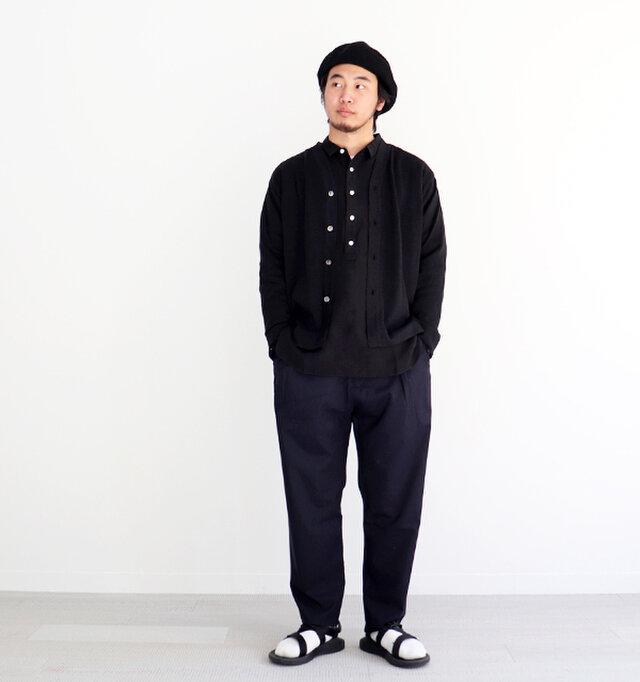 ブラック / 3 着用、モデル身長:175cm、体重:70kg