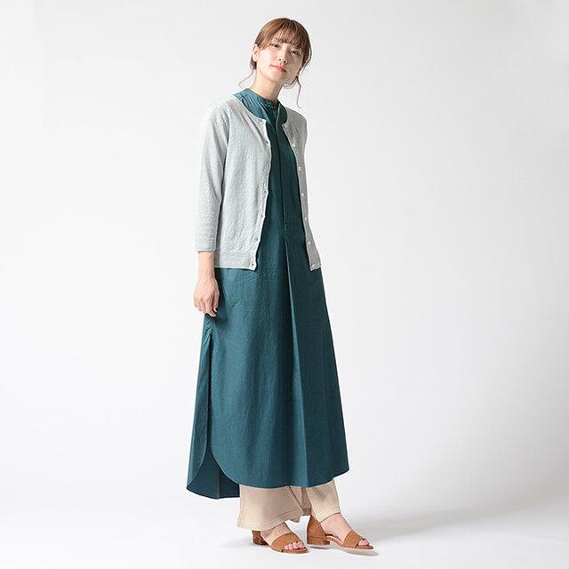 モデル:170cm / 54kg color : solid peacock / size : 0 (フリーサイズ)