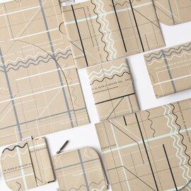 TRICOTE|リサイクルレザー ランダムラインシリーズ  小物 ファイル・ブックカバー
