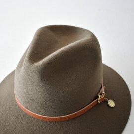 IL BISONTE×KAMILAVKA レザーベルトチャーム付き中折れハット帽子 54192-3-09683 54192-3-09783 イルビゾンテ