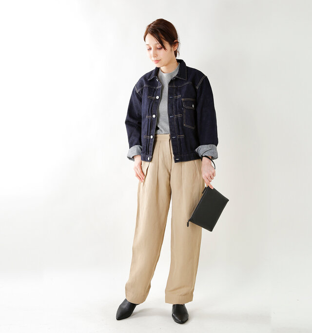model yama:167cm / 49kg color : one wash / size : F