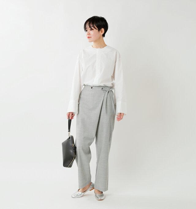 model saku:163cm / 43kg  color : light gray / size : 1