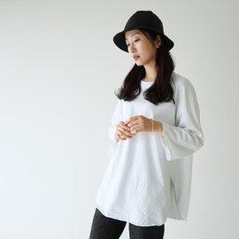 kha:ki|【2021SS】オーバーサイズ クルーネック 長袖 Tシャツ ロンT カットソー MIL-21HCS238B カーキ