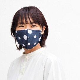 hirali|不織布マスク用 薄手ガーゼのマスクカバー ~雪あられ~