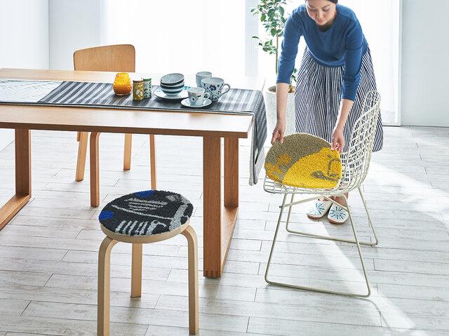 ダイニングで使えば、お食事の時間がもっと楽しく♪木製のベンチや北欧家具とも相性◎