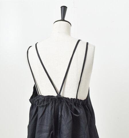 ina aranciato別注 リネン胸元フリルキャミソールワンピース 182140-1-rf