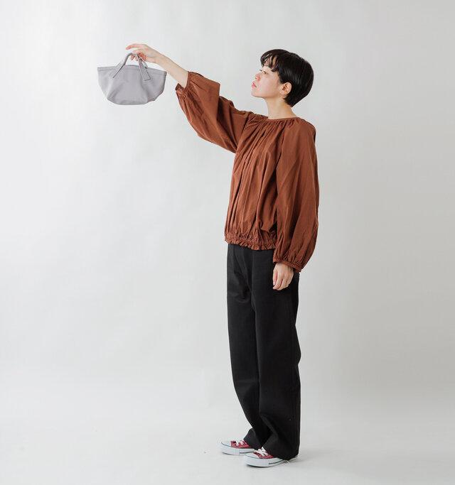 model saku:163cm / 43kg  color : ash gray / size : one