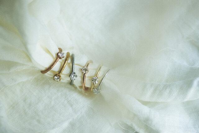 KARAFURU|婚約指輪 蕾 -TSUBOMI-(鏡面)