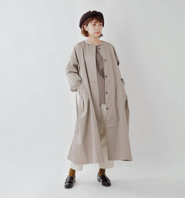 model hikari:165cm / 48kg color : gray / size : F