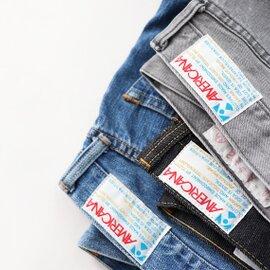 Americana|テーパード5Pジーンズ - USED加工