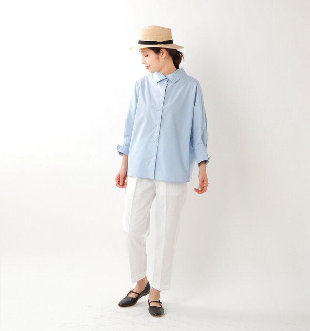 model yama:167cm / 49kg  color : sax / size : 1
