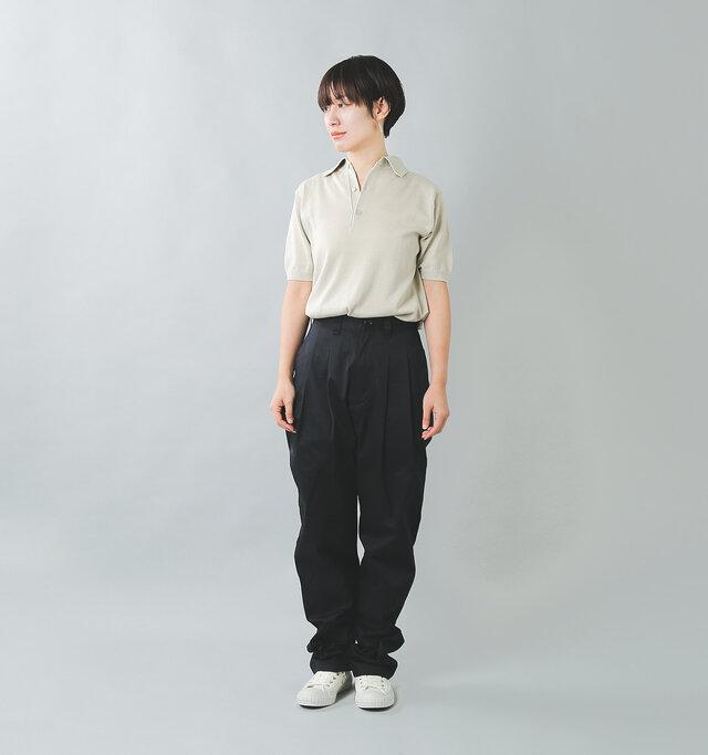 model:158cm / 47kg color : ecru / size : 2