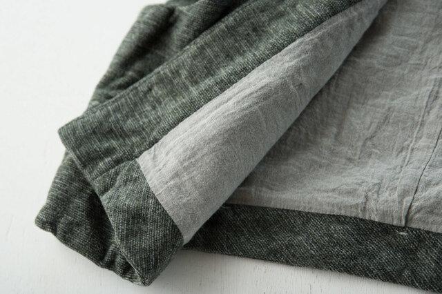 裏地もふんわりやわらか。細部まで手を抜かない丁寧な縫製。