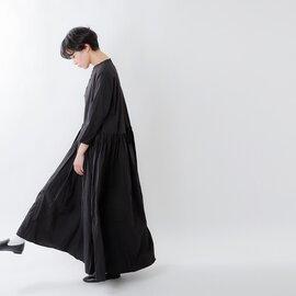 Gauze# aranciato別注 コットンスウィッチングギャザーワンピースドレス g443-ar-ms