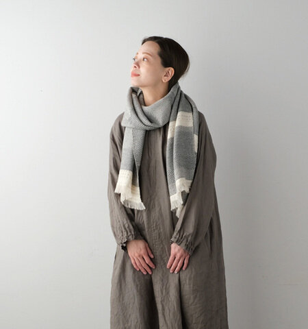 kobooriza KAWARI ウール ノルディックボーダー (かわり織りマフラー)