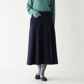 Odour ラムウール メルトン プリーツスカート OD-SK1304 オウダー