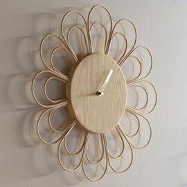 YARN 籐とトネリコの大きな時計