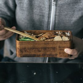 杉の木クラフト|うるしの弁当箱(拭き漆)