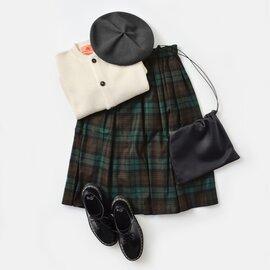 O'NEIL OF DUBLIN|aranciato別注 ウールブレンドタックチェックスカート s265wp-yn