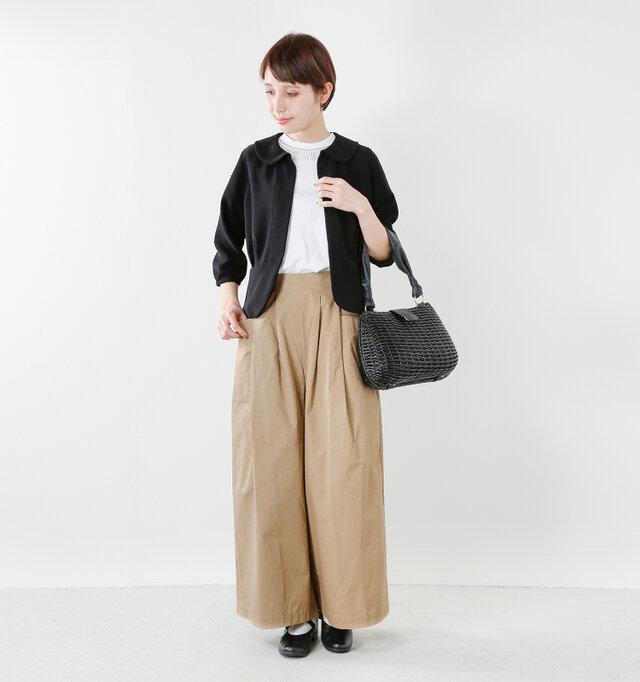 model yama:167cm / 49kg color : black / size : 38  フォーマルなシーンはもちろん、デイリースタイルにも対応してくれる便利な1枚です。