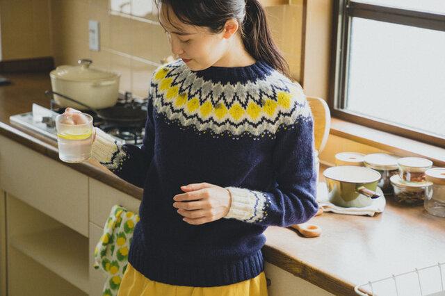 DARUMA レモンのヨークセーター キット