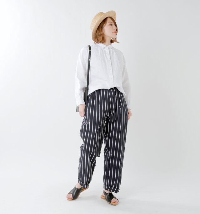 model mei:165cm / 50kg color : nevy stripe / size : M