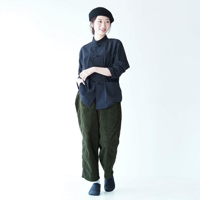 モデル:166cm / 47kg color : dark green / size : 00(レディースS~M)