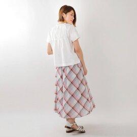 GRANDMA MAMA DAUGHTER toro|コットンバックギャザーワイドTシャツ tc914171-mt