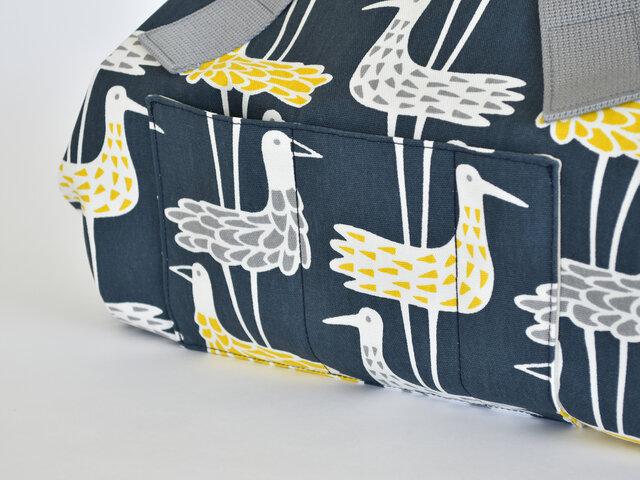 SHORE BIRDS:ブルーの生地で製作しました。