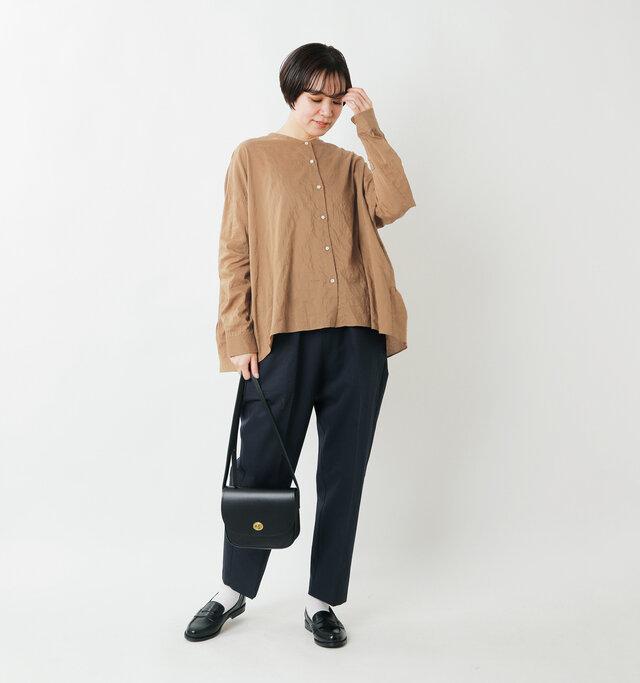 model saku:163cm / 43kg  color : brown / size : 38