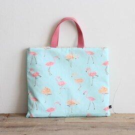 nunocoto|nunocoto | レッスンバッグ(おけいこバッグ)手作りキット:flamingo/ライトブルー