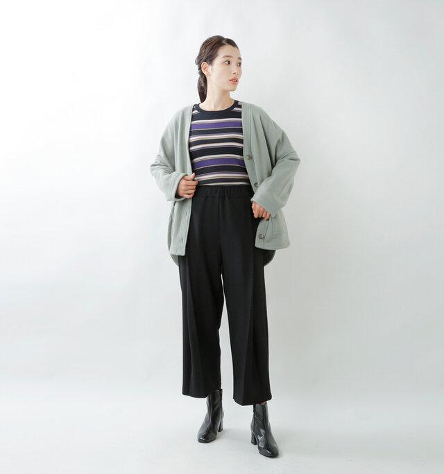 model mizuki:168cm / 50kg  color : nero / size : 38