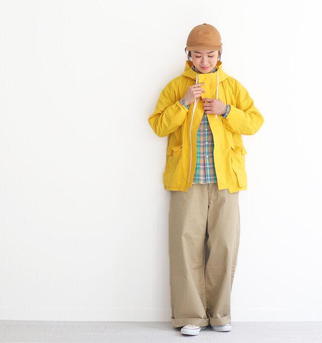 イエロー/ 0 着用、モデル身長:165cm
