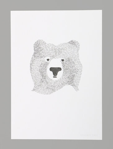 ポスター BEAR OF WORDS A4