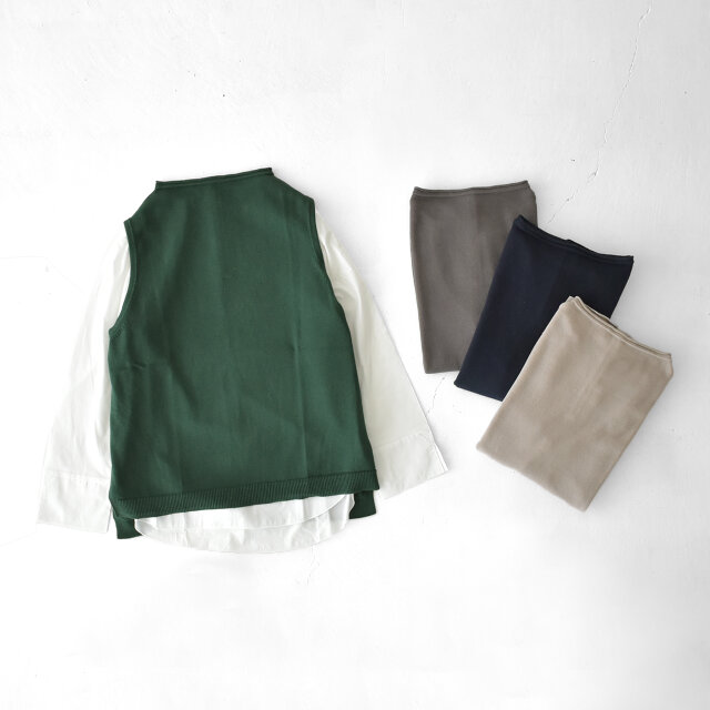カラーは【ash-grey】【greige】【black-navy】【dark-green】の4種類をご用意。