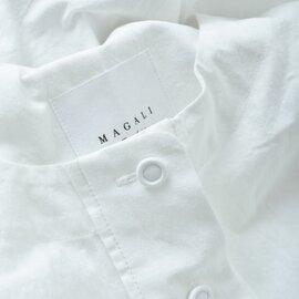 MAGALI|ウォッシュドコットンリネン タックスリーブブラウス bl149-rf