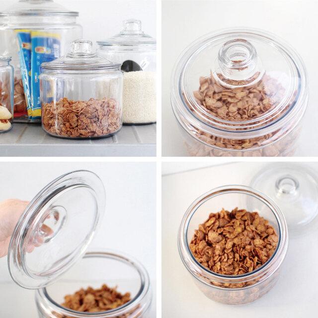 こちらのSサイズは、食材のストックを入れておいたり、小物の収納用にもおすすめ。