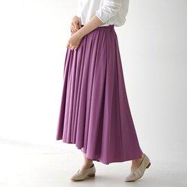 MARECHAL TERRE タック フレア スカート Tuck Flare Skirt ロング スカート ギャザー ZMT211SK023 マルシャルテル
