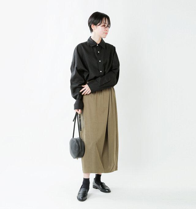 model saku:163cm / 43kg  color : carf black / size : 37(23.0cm)