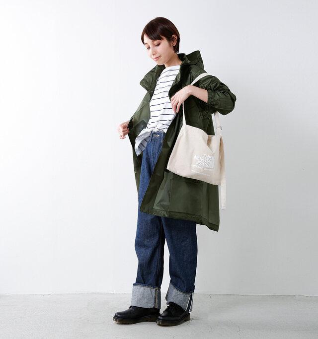 model yama:167cm / 49kg color : rosin green / size : XS