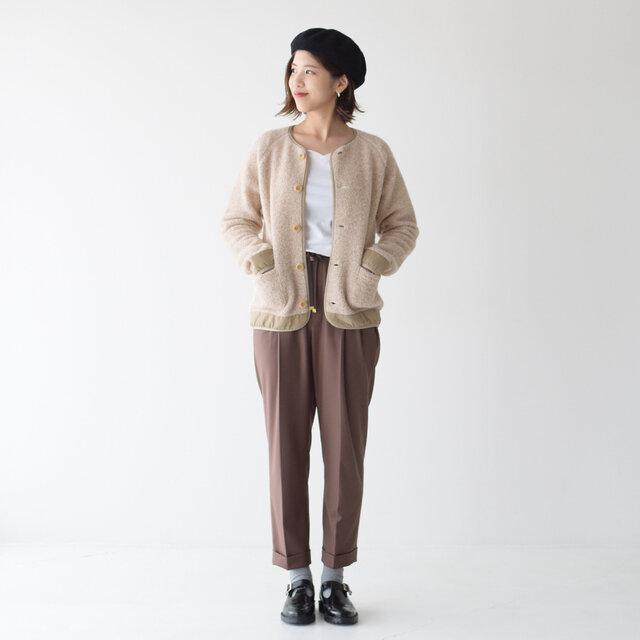 モデル:157cm / 47kg color : lt.beige / size : WS(Women's S)