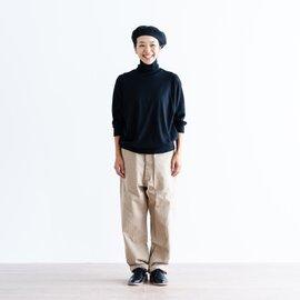 homespun | 40/2 天竺 タートル七分袖プルオーバー