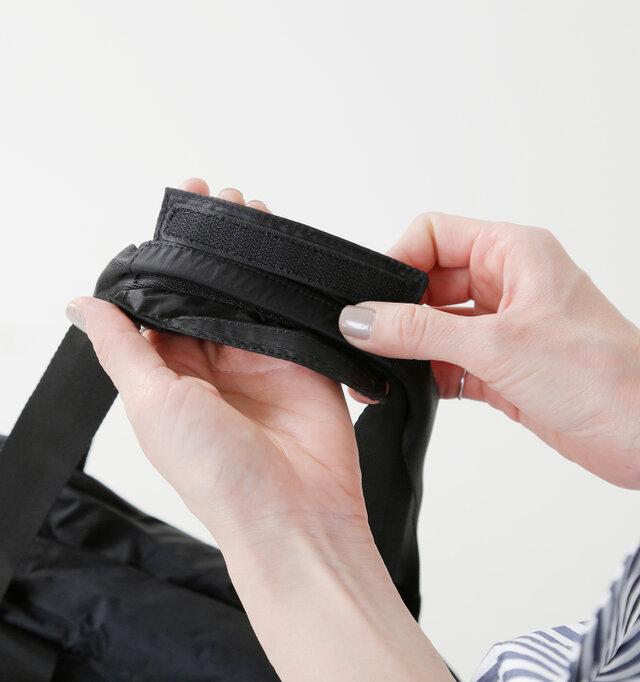 持ち手部分には腕や肩に食い込まないようにカバーがついているので重たい荷物も安心ですね♪