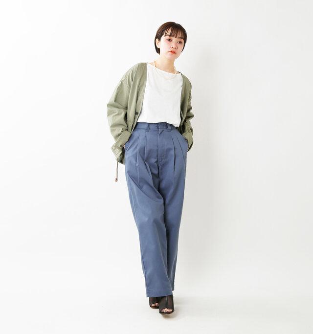 model saku:163cm / 43kg  color : blue / size : 32