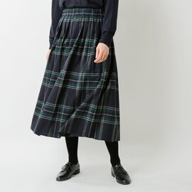 O'NEIL OF DUBLIN|aranciato別注 ウールブレンドタックチェックロングスカート s26582-fn