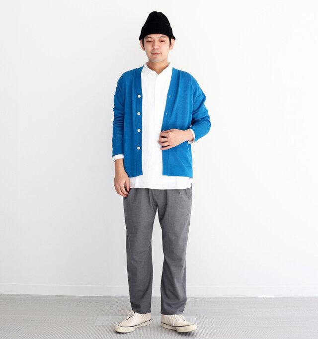 ブルー / 2 着用、モデル身長:176cm、体重:65kg