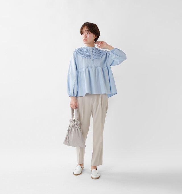 model saku:163cm / 43kg  color : light blue / size : 1
