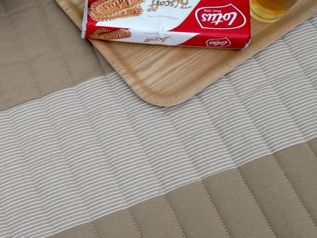 スミノエ 洗えるラグ ヒッコリーパッチ〈床暖対応〉