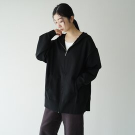 mizuiro ind|フーデット ジッパー カーディガン hooded zipped cardigan 3-229570 ミズイロインド