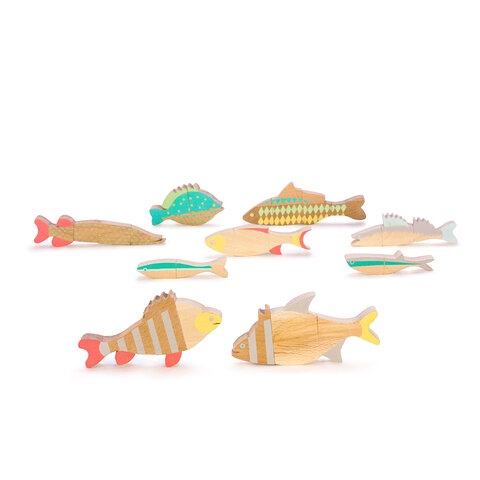 Eperfa お魚マグネットパズル[知育おもちゃ]